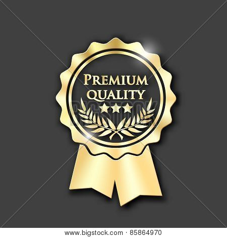 Gold  Icon With Text Premium Quality