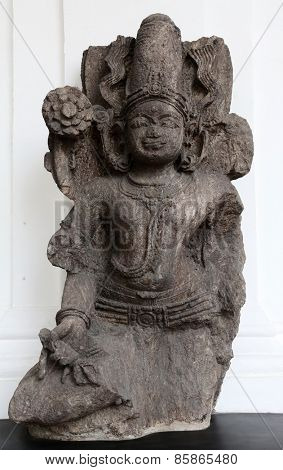 KOLKATA, INDIA - FEBRUARY 15:  Composite image of Surya and Siva, from 13th century found in Khondalite, Konark, Odisha now exposed in the Indian Museum in Kolkata, on February 15, 2014