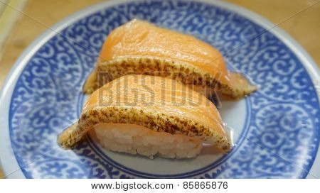 Seared Salmon Belly Sushi Nigiri