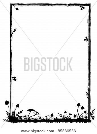 Frame With Mushrooms