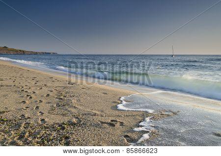 Splashing Waves On The Beach - Bulgarian Seaside Landscapes