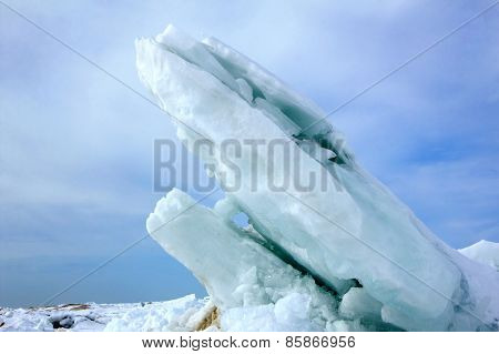Ice Slabs On Lake Huron