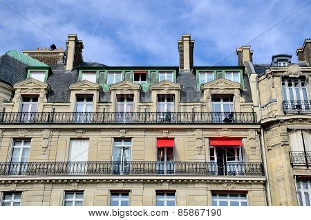 Facade In A Building In Paris