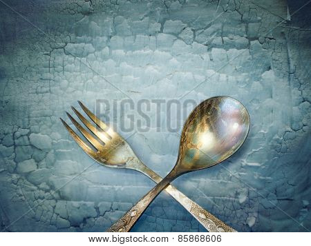 Vintage Spoon And Fork