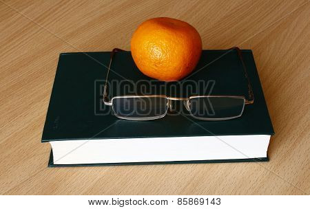 the book on the table