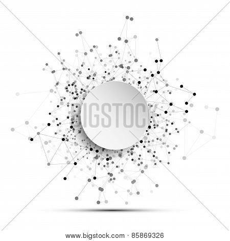Connection background with place for text, molecule structure, business and science concept vector i