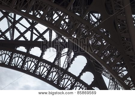Arch Detail On Eiffel Tower