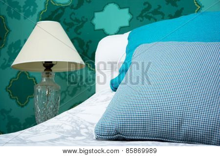 Turquoise Blue And White Bedroom