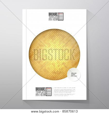 Abstract wooden background. Brochure, flyer or report for business, template vector