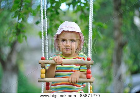 Small Girl Playing Outdoor