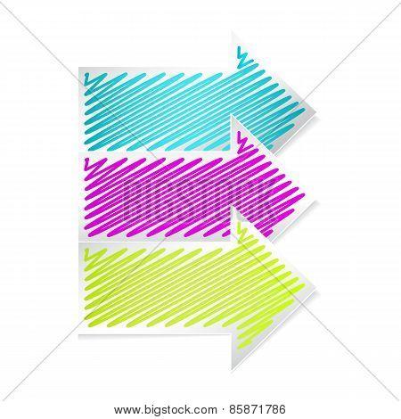 Color arrows label set
