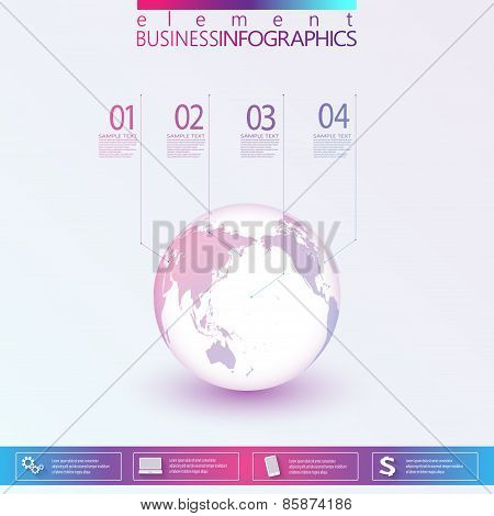 Modern Abstract 3D network template infographic with place for your text. Can be used for workflow l