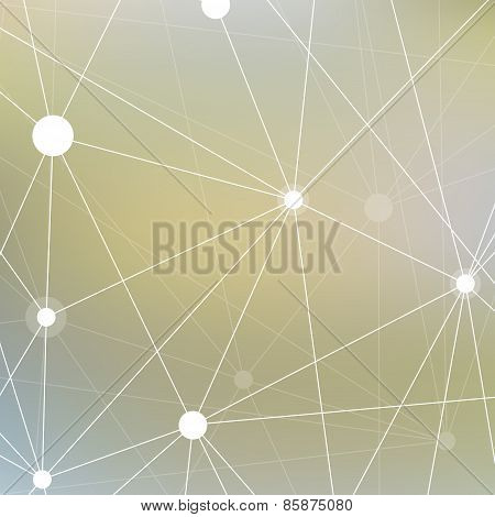 Molecule and communication background. Geometric blurred background for your design and your text