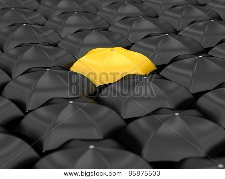 Unique Yellow Umbrella