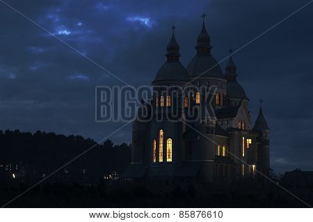 Church At Night.