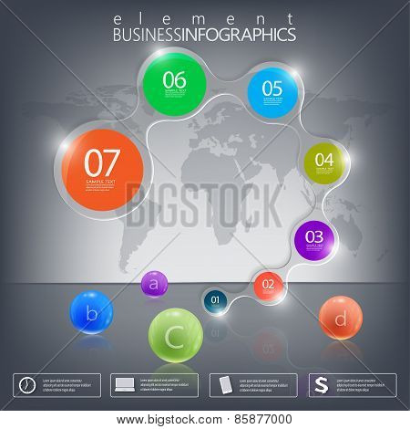 Modern infographic network template with place for your text on dark background . Can be used for wo