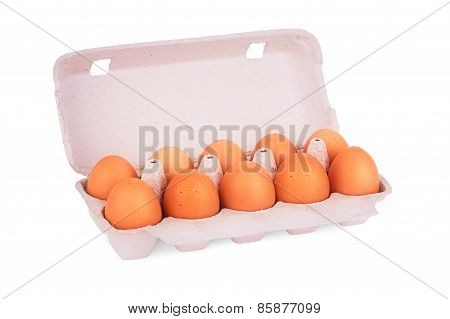 yellow eggs in box