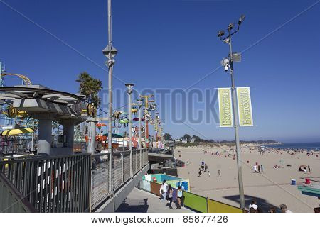 Chairlift Inside The Santa Cruz Beach