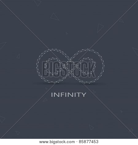 Geometric Limitless sign . The concept of eternity. Logo