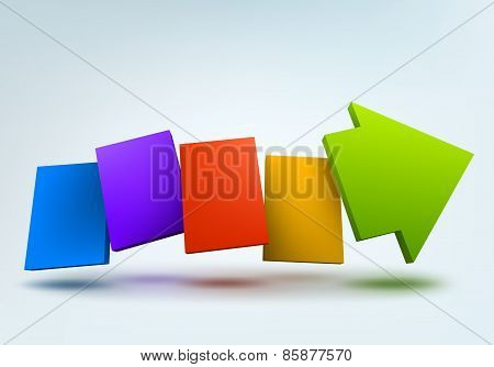 Abstract vector illustration with 3d arrow and place for text