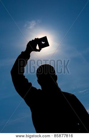 Man Shows Sun Eclipse