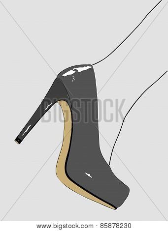 Elegant Shoes Of A Woman