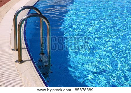 Swimming Pool With Metal Railings