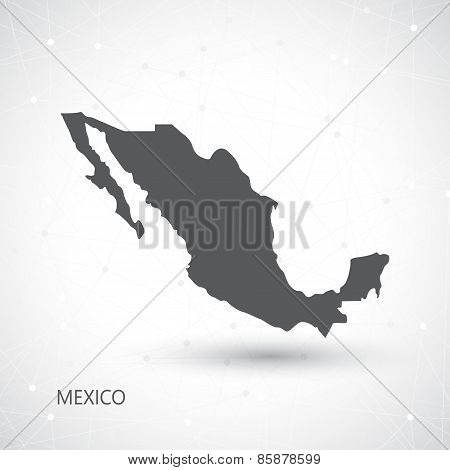 Mexico Map And Communication Background Vector illustration