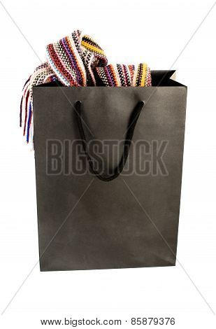 Shopping Bag With Contents On White