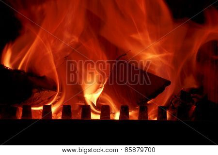 The strain in the fireplace