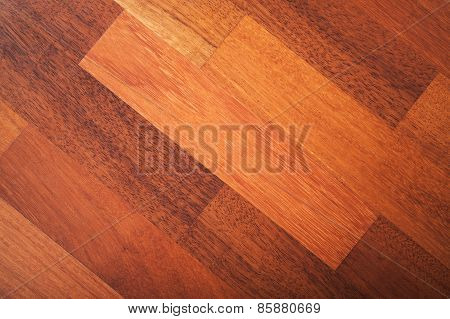 Red Wooden Parquet Made Of African Pear
