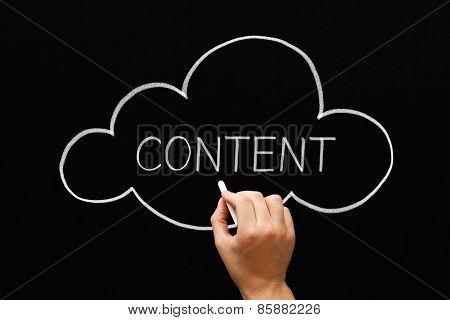 Content Cloud Concept Blackboard