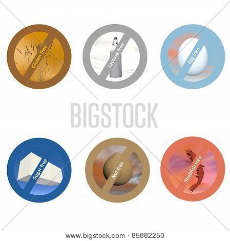 Stickers for allergen free products