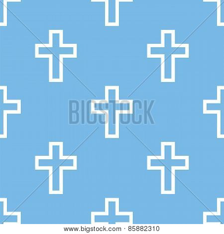 Protestant Cross seamless pattern