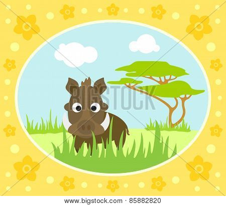 Safari background with boar