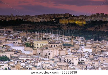 Fez, Morocco With Old Medina