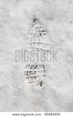 Impression Of A Boot In Snow