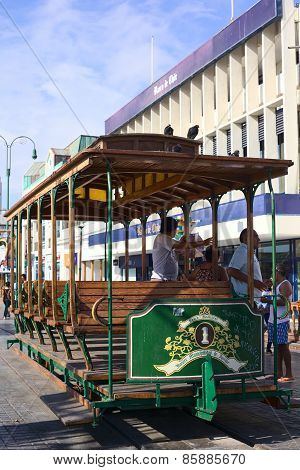 Old Tram Waggon in Iquique Chile
