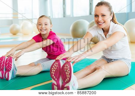 Sporty Mother And Daughter.