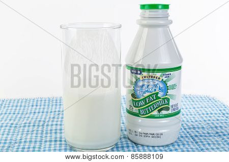 Drinking Cold Buttermilk