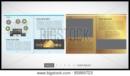 Brochure print template design
