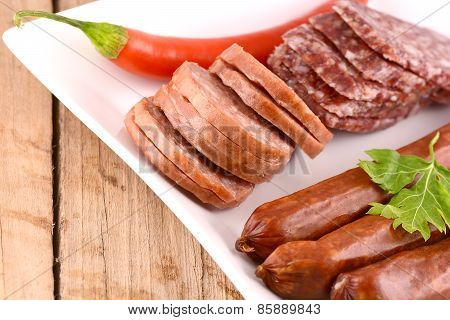 Salami And Red Pepper