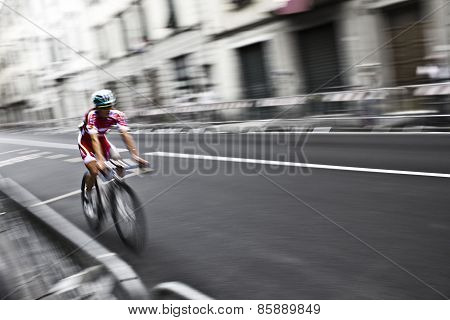 Cyclist on the street at Uci Road World Championships