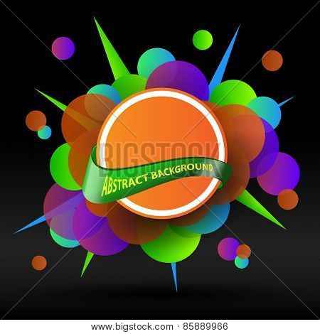 Abstract Background - Speech Bubble or Sticker Design Template