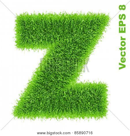Letter of grass alphabet, vector illustration EPS 8.