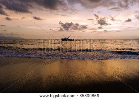 Fishing Boat Near Beach