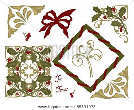 Christmas Greeting Card Decorations