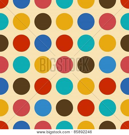 Vintage Background Seamless Pattern With Circles