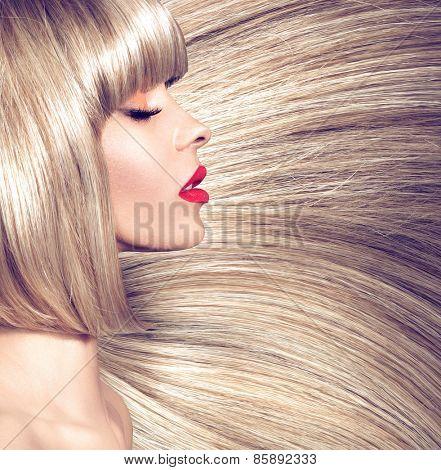 Fashion hairstyle portrait