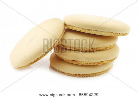 stacked traditional Dutch (Frisian) cookie called
